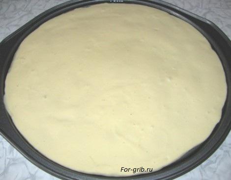 тесто для пиццы с грибами