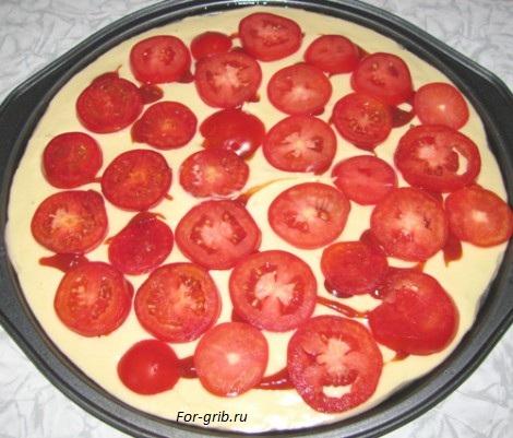 помидоры для пиццы с грибами