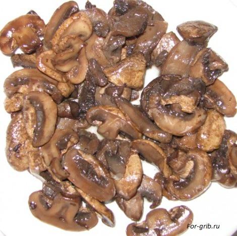 жареные грибы для домашней пиццы